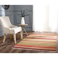 Safavieh Tapestry-woven Striped Kilim Village Red Wool Rug - 3' x 5'