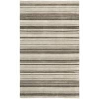 Safavieh Hand-knotted Tibetan Stripes Silver Wool Rug - 8' X 10'