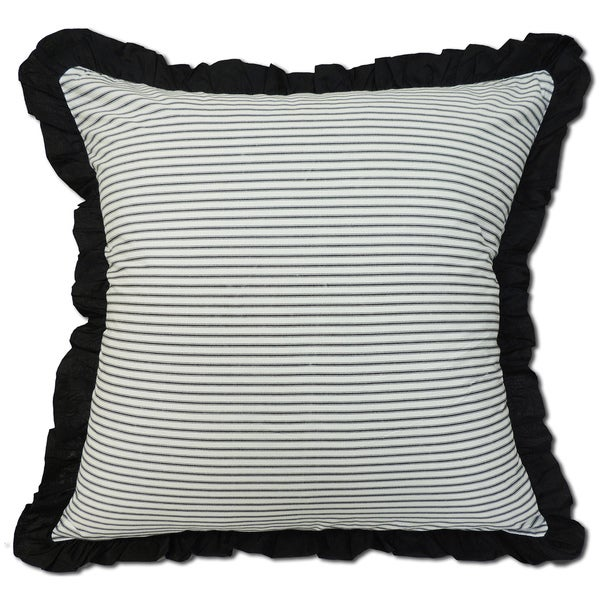 Black/White Ticking Euro Sham