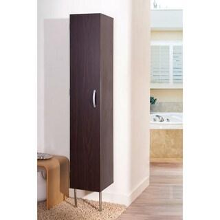 Furniture of America Zarina Walnut 6-shelf Wall-mounted Bathroom Tower Cabinet