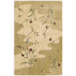 Chambord Flowing Stream Floral Beige Rug (1'9 x 2'9)