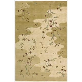 Chambord Flowing Stream Floral Beige Rug (3'6 x 5'9)