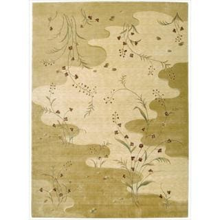 Chambord Flowing Stream Floral Beige Rug (7'6 x 9'6)