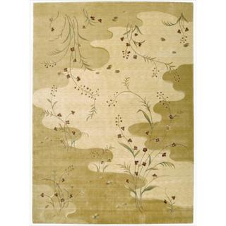Chambord Flowing Stream Floral Beige Rug (7'9 x 10'10)