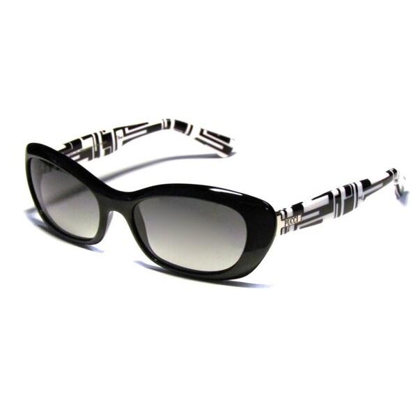 Emilio Pucci Women's 'EP 621' 001 Black Cat Eye Sunglasses