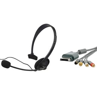 INSTEN Headset/ Composite AV Cable for Microsoft xBox 360/ 360 Slim