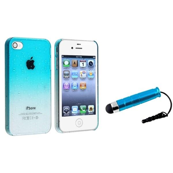 BasAcc Blue Waterdrop Case/ Mini Blue Stylus for Apple iPhone 4/ 4S