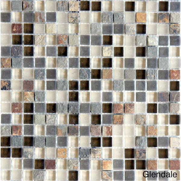 Emrytile Arizona Square 12x12-inch Sheet Wall Tiles (Set of 10)