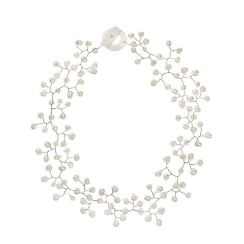 Handmade Floating Ray of White Freshwater Pearl Necklace (Philippines)