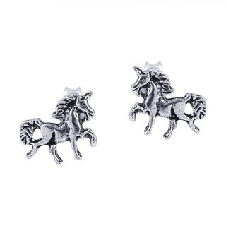Petite Unicorn/Horse .925 Silver Stud Earrings (Thailand)
