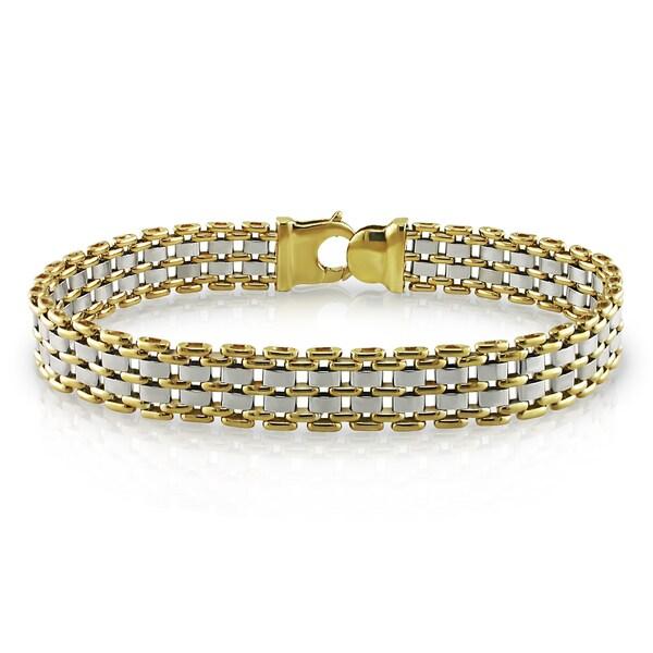 Miadora 18k Two-Tone Gold Men's Bracelet