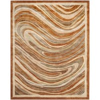 Martha Stewart by Safavieh Marble Swirl October Leaf Red Rug - 9'6 x 13'6