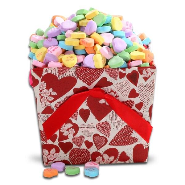 Alder Creek Conversation Hearts Candy Gift Basket