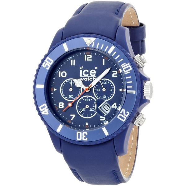 shop ice watch men 39 s chrono matte blue big watch on sale. Black Bedroom Furniture Sets. Home Design Ideas