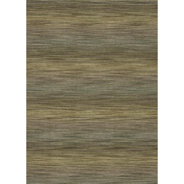 Hand-woven Carter Wool Lawn Rug (5'0 x 7'6)