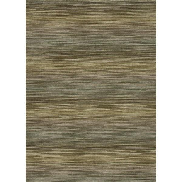 Hand-woven Carter Wool Lawn Rug (7'6 x 9'6)