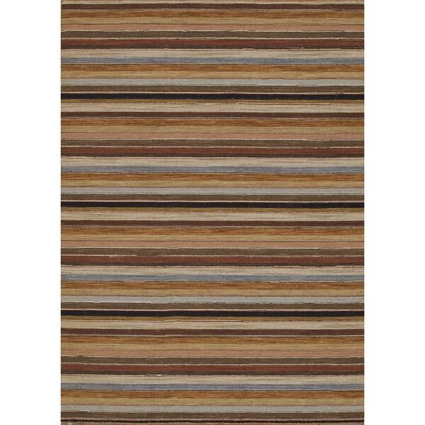 Hand-woven Carter Wool Multi Rug (3'6 x 5'6)