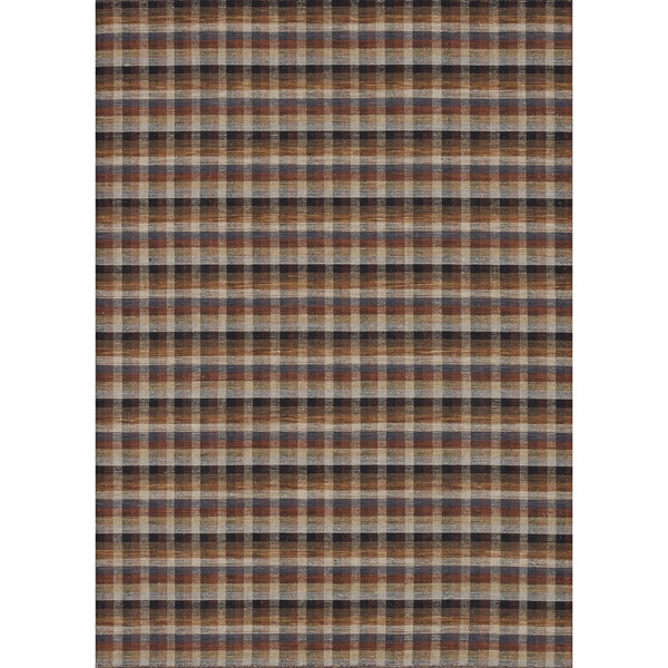 Hand-woven Carter Wool Spice/ Multi Rug (3'6 x 5'6)