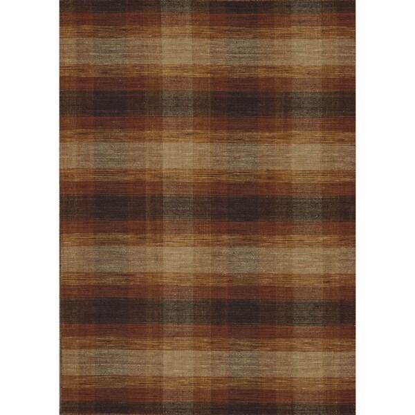 Hand-woven Carter Wool Sunset Rug (7'6 x 9'6)