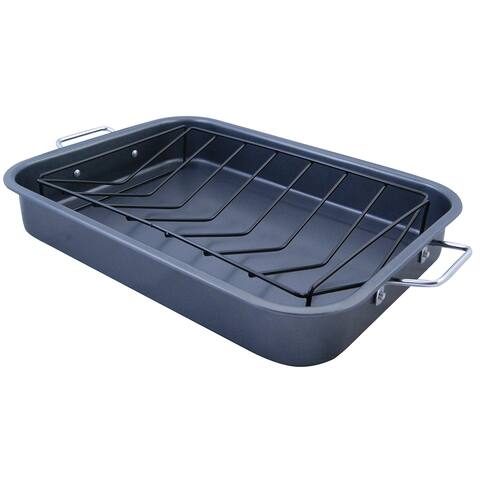 KitchenWorthy Roasting Pan with V-Rack (Case of 4)