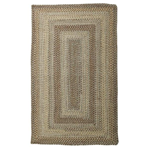 Aquamarine Wool Braided Rug (2'x 3')