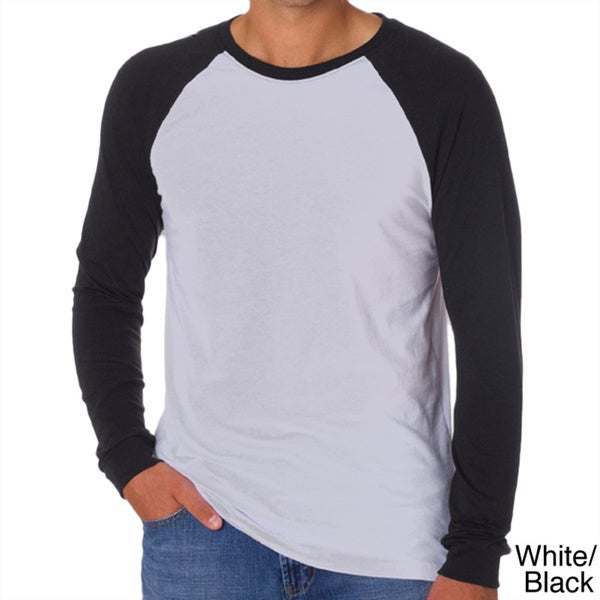 Canvas men 39 s long sleeve baseball t shirt free shipping for Mens long sleeve t shirts sale