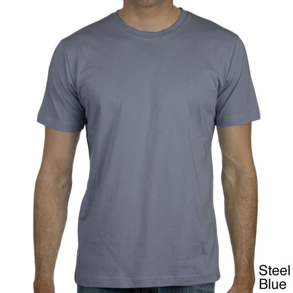 Canvas men 39 s fitted jersey knit t shirt free shipping on for Mens t shirts free shipping