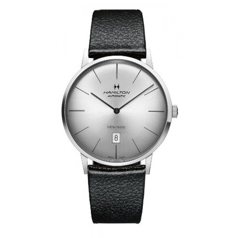 Hamilton Men's American Classic Intra-Matic Silver Dial Watch