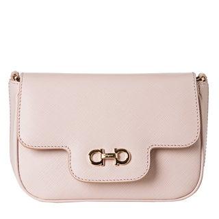 Salvatore Ferragamo 'Fancy' Pale Pink Embossed Mini Cross-body Bag