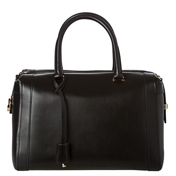 Salvatore Ferragamo Women's 'Marilyn' Black Leather Satchel Handbag
