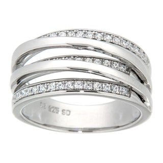Pearlz Ocean Sterling Silver Cubic Zirconia Fashion Ring (2 options available)