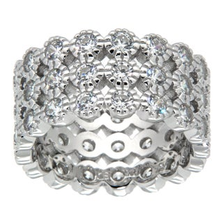 Pearlz Ocean Sterling Silver White Cubic Zirconia Band Jewelry for Womens (4 options available)