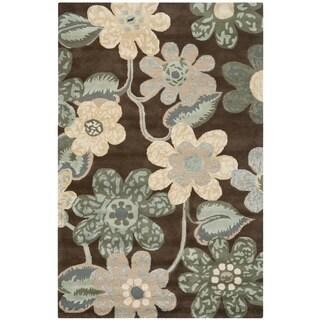 Safavieh Handmade Bella Brown Wool and Viscose Rug (4'x 6')