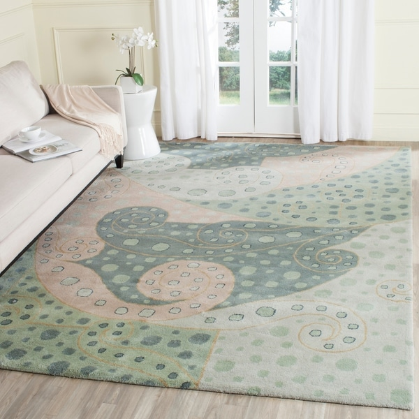Safavieh Handmade Bella Sage Wool and Viscose Rug - 8' x 10'