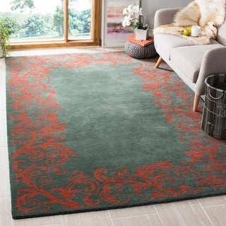 Safavieh Handmade Bella Blue Wool and Viscose Rug (6' x 9')