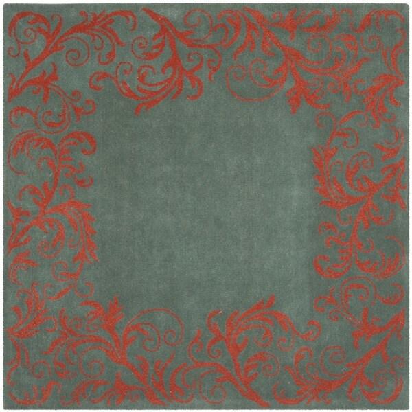 Safavieh Handmade Bella Blue Wool and Viscose Rug (6' Square)