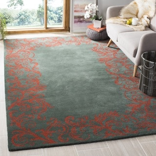 Safavieh Handmade Bella Blue Wool and Viscose Rug (6' Square)