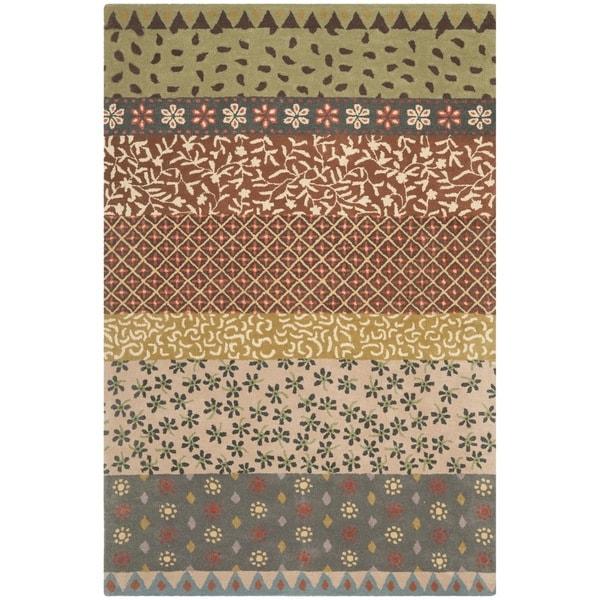 Safavieh Handmade Bella Ivory Wool and Viscose Rug (8' x 10')
