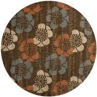 Safavieh Handmade Blossom Brown Wool Rug - 6' Round