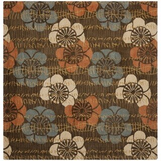 Safavieh Handmade Blossom Brown Wool Rug (6' Square)