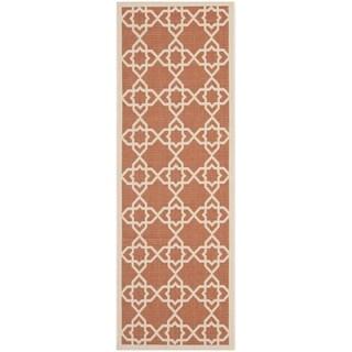 Safavieh Poolside Terracotta/ Beige Indoor Outdoor Rug (2'4 x 9'11)