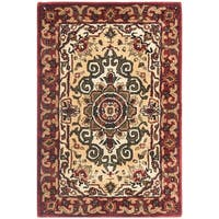 Safavieh Handmade Floral Persian Legend Red/ Ivory Wool Rug - 3' x 5'