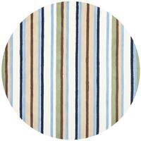 Safavieh Handmade Children's Stripes Cotton Rug - 6' x 6' Round