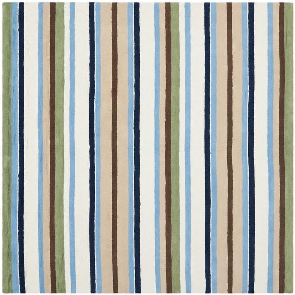 Safavieh Handmade Children's Stripes Cotton Rug (6' Square)