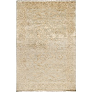 Hand-knotted Stowe Beige Wool Rug (8' x 11')
