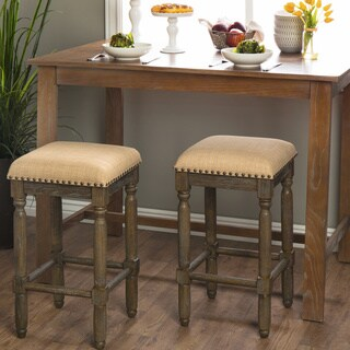 Gracewood Hollow Renate Linen Counter Stools (Set of 2)