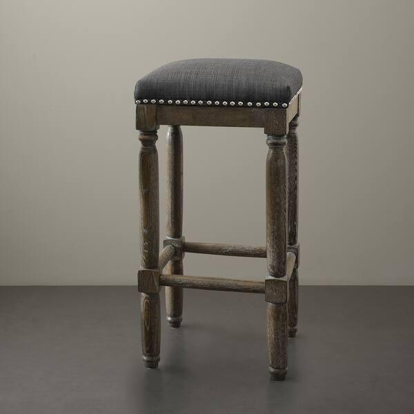 Wondrous Shop Gracewood Hollow Renate Grey Bar Stools Set Of 2 Customarchery Wood Chair Design Ideas Customarcherynet