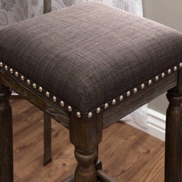 Awe Inspiring Shop Gracewood Hollow Renate Grey Bar Stools Set Of 2 Customarchery Wood Chair Design Ideas Customarcherynet
