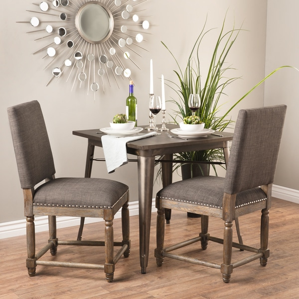 renate grey dining chairs set of 2 free shipping today overstock