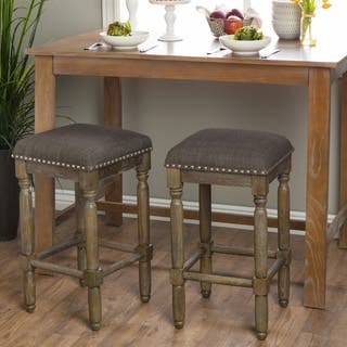 Renate Linen Bar Stools Set Of 2 Free Shipping Today